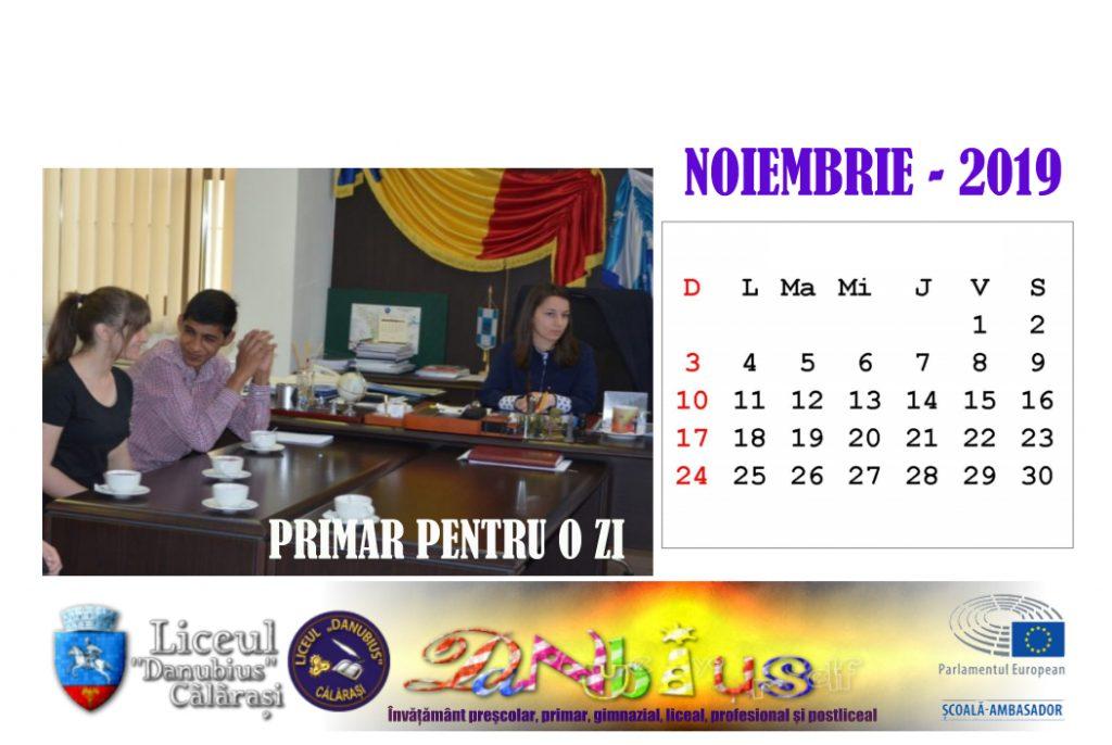 calendar noiembrie 2019
